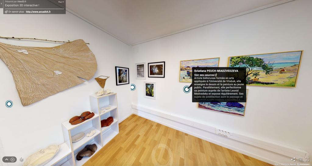 Visite virtuelle musée Arcad64